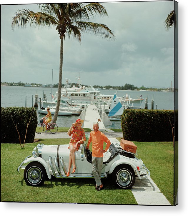 People Acrylic Print featuring the photograph All Mine by Slim Aarons