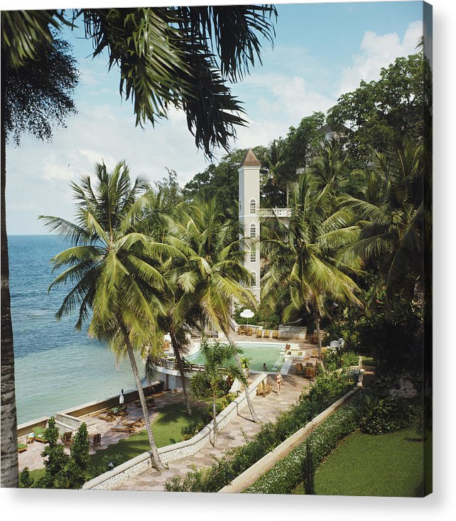 People Acrylic Print featuring the photograph Bahamanian Hotel by Slim Aarons
