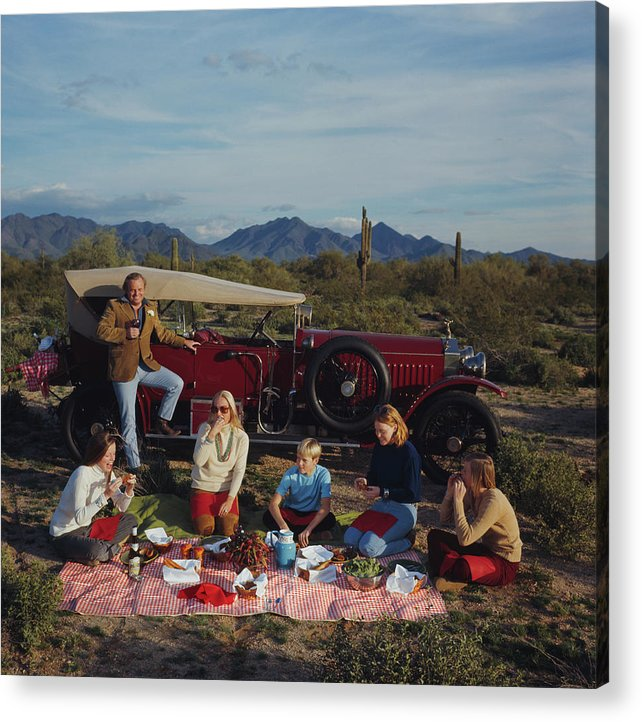 People Acrylic Print featuring the photograph Barrett Family Picnic by Slim Aarons