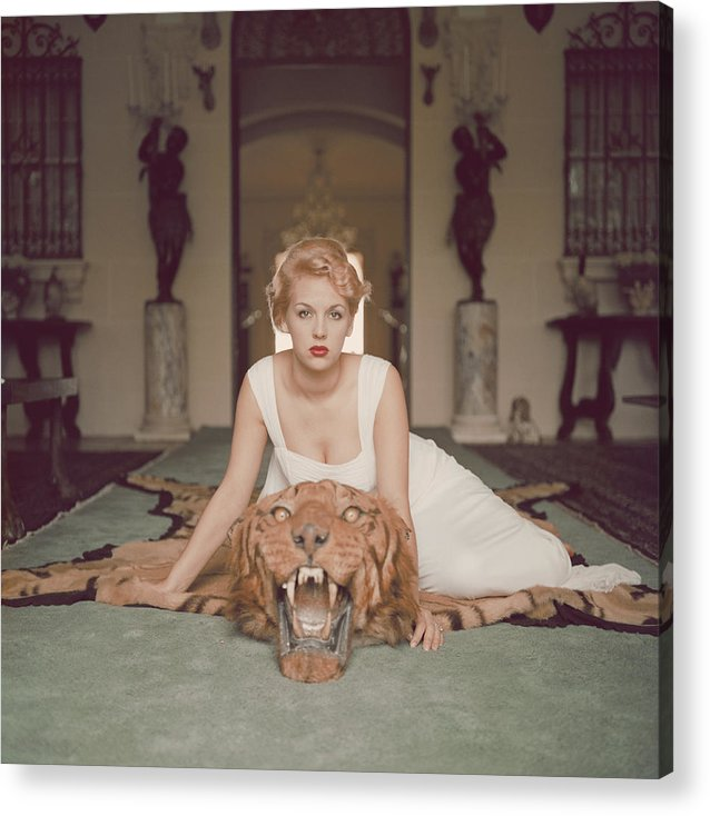 People Acrylic Print featuring the photograph Beauty And The Beast by Slim Aarons