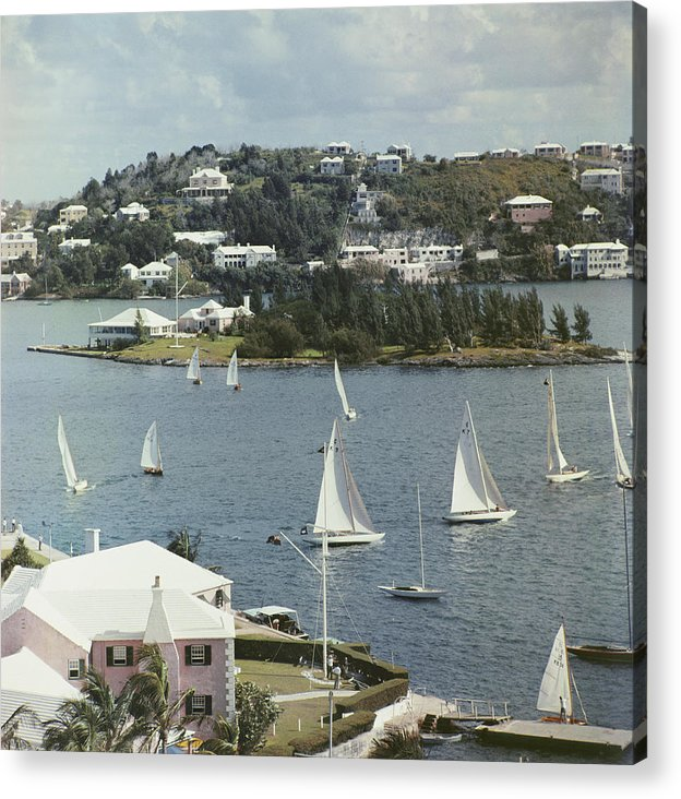1950-1959 Acrylic Print featuring the photograph Bermuda View by Slim Aarons