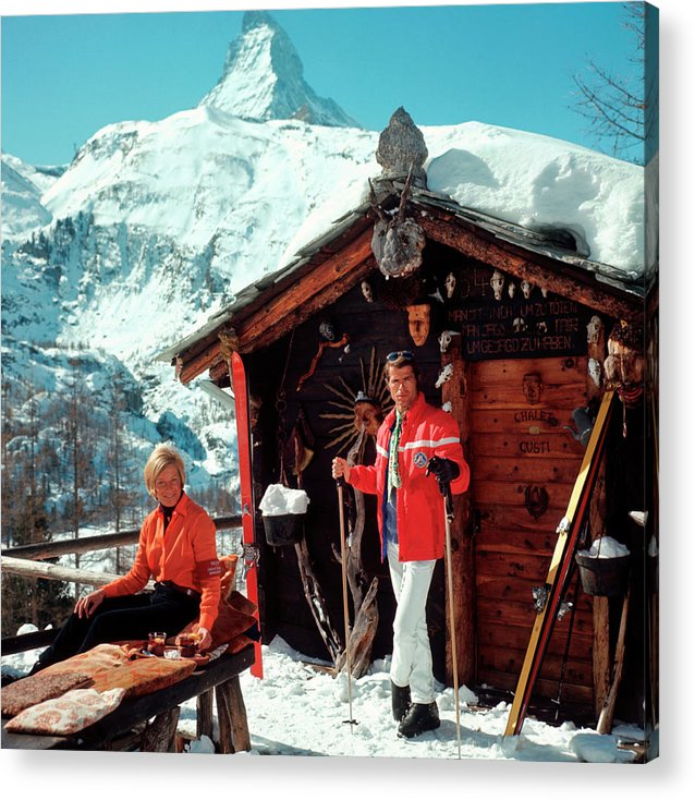 Skiing Acrylic Print featuring the photograph Chalet Costi by Slim Aarons
