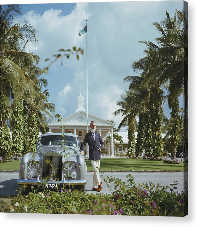 Rolls Royce Acrylic Print featuring the photograph Commander Whitehead by Slim Aarons