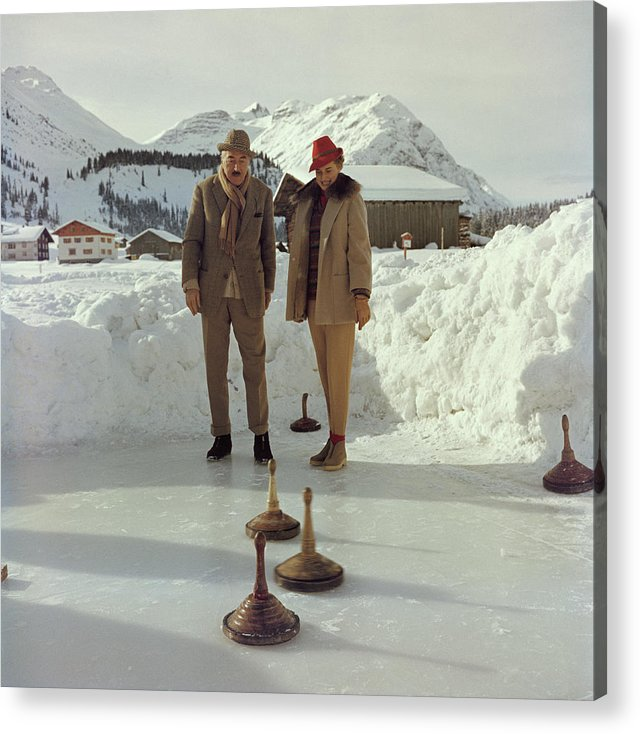Curling Acrylic Print featuring the photograph Curling by Slim Aarons