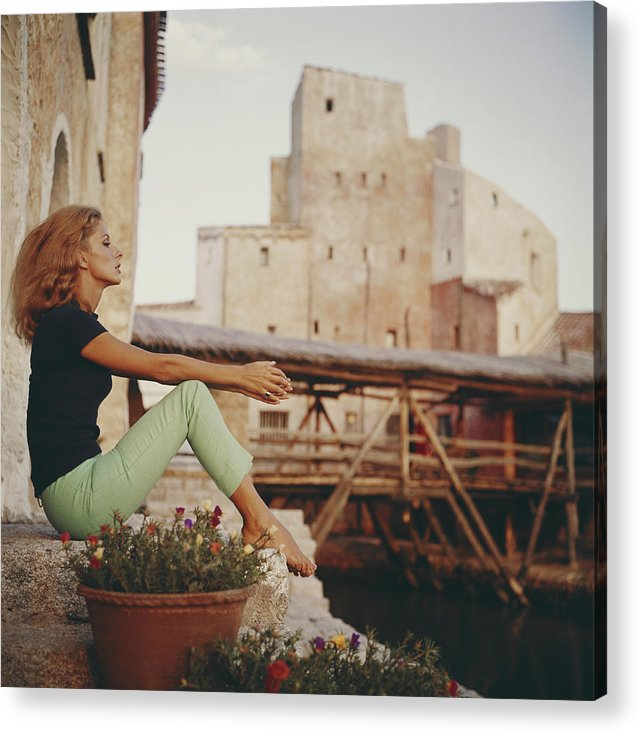 Tranquility Acrylic Print featuring the photograph Dolores Guinness by Slim Aarons