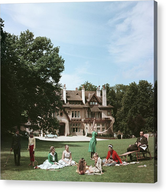 Child Acrylic Print featuring the photograph French Stately Home by Slim Aarons