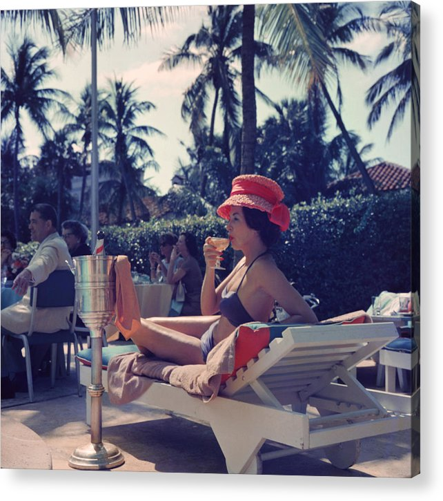 People Acrylic Print featuring the photograph Leisure And Fashion by Slim Aarons