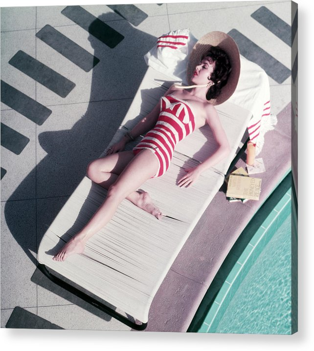 People Acrylic Print featuring the photograph Mara Lane At The Sands by Slim Aarons