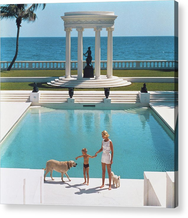 Pets Acrylic Print featuring the photograph Nice Pool by Slim Aarons