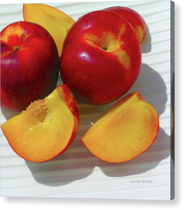 Plums Acrylic Print featuring the photograph Plums In Hawaii by James Temple