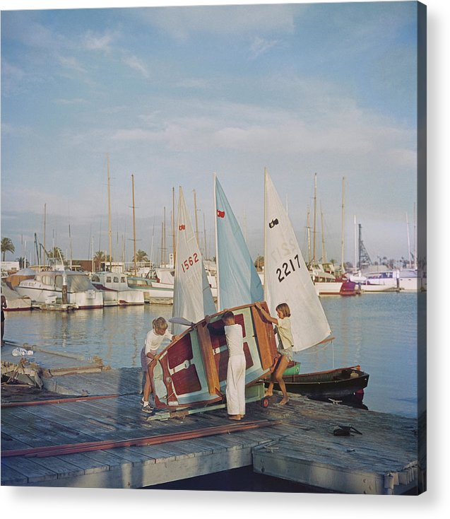 Child Acrylic Print featuring the photograph Sailing Dinghy by Slim Aarons