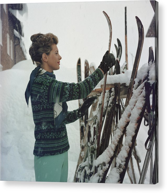 Skiing Acrylic Print featuring the photograph Skiing Princess by Slim Aarons