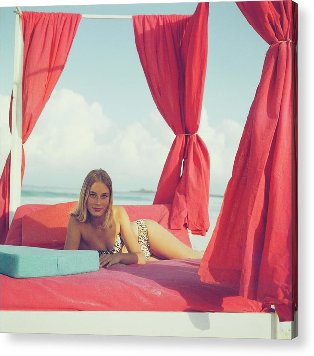 Tania Mallet Acrylic Print featuring the photograph Tania Mallet by Slim Aarons