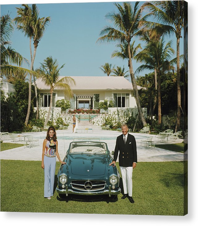 Finance And Economy Acrylic Print featuring the photograph The Fullers by Slim Aarons