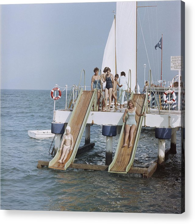 Child Acrylic Print featuring the photograph Venice Vacation by Slim Aarons