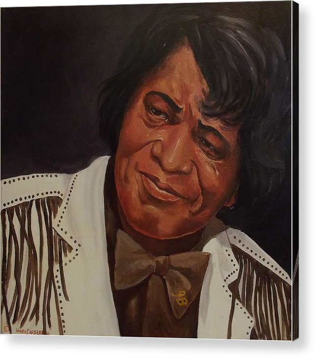 James Brown Acrylic Print featuring the painting Tears Of Joy by Wanda Dansereau