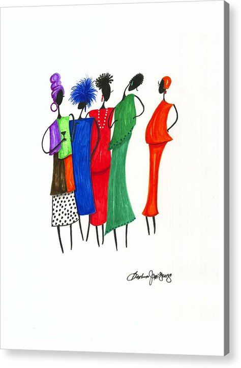 Painting Acrylic Print featuring the painting Girls Night Out by Bee Jay