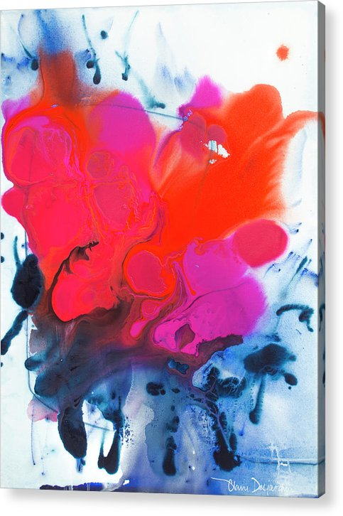 Abstract Acrylic Print featuring the painting Voice by Claire Desjardins