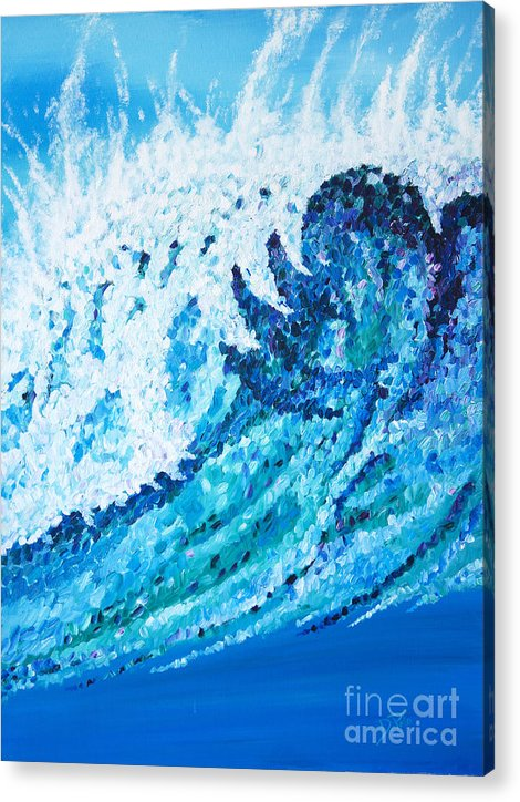 Ocean Acrylic Print featuring the painting Watercolor by JoAnn DePolo