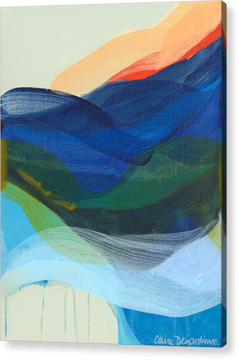 Abstract Acrylic Print featuring the painting Deep Sleep Undone by Claire Desjardins