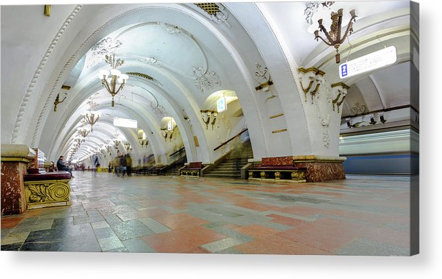 Arch Acrylic Print featuring the photograph Arbatskaya Metro by Mordolff