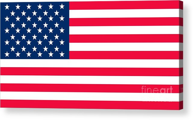 America Acrylic Print featuring the digital art Flag of the United States of America by Anonymous