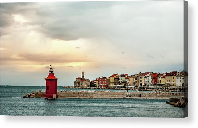 Tranquility Acrylic Print featuring the photograph Piran Slovenia by Digital Image