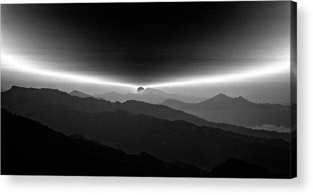 Sunrise Acrylic Print featuring the photograph Sunrise On The Anapurna by Yvette Depaepe