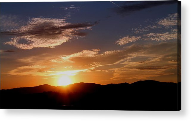 Sunset Acrylic Print featuring the photograph Sunset over the Blue Ridge by Candice Trimble