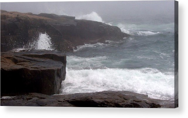 Waves Acrylic Print featuring the photograph Schoodic Point by Lisa Kane