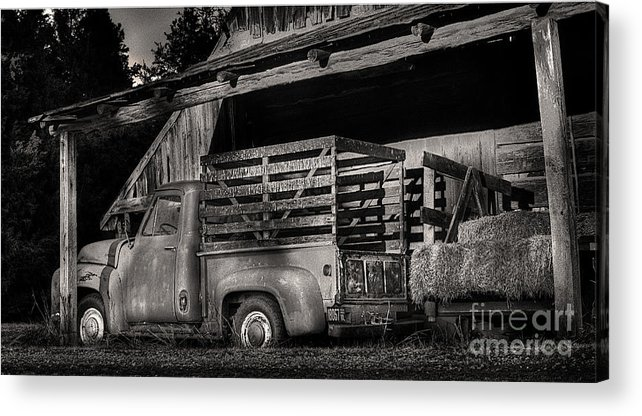 Scotopic Acrylic Print featuring the photograph Scotopic Vision 5 - The Barn by Pete Hellmann