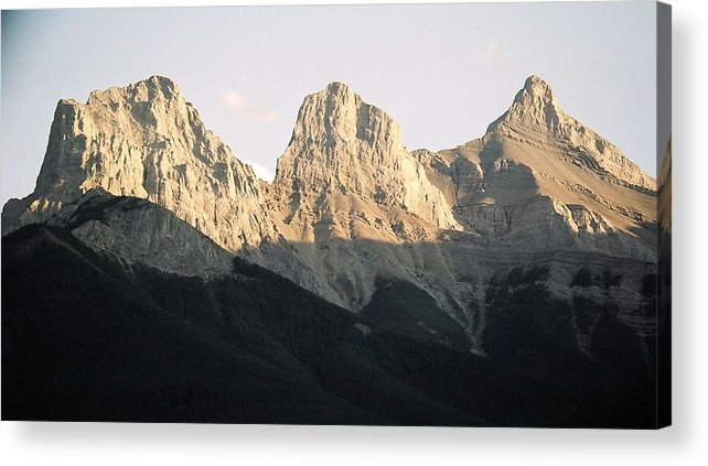 Rocky Mountains Acrylic Print featuring the photograph The Three Sisters Of The Rockies by Tiffany Vest
