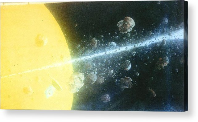 Spacescape Acrylic Print featuring the painting View Master by A Robert Malcom