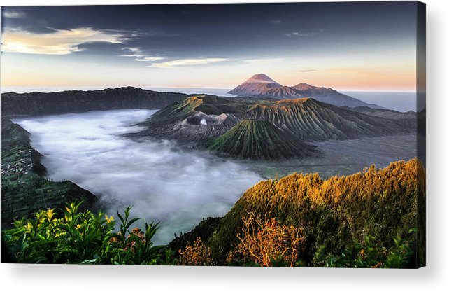 Scenics Acrylic Print featuring the photograph Indonesia Mount Bromo by Frederic Huber Photography