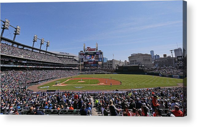 American League Baseball Acrylic Print featuring the photograph Kansas City Royals V Detroit Tigers by Leon Halip