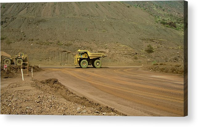 Southern Hemisphere Acrylic Print featuring the photograph Tom Price Earthmover by Samvaltenbergs
