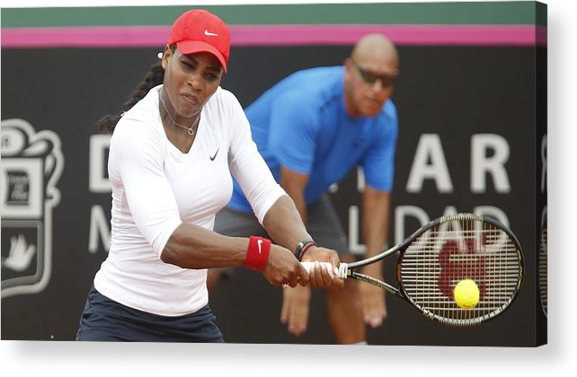 Event Acrylic Print featuring the photograph Argentina v USA - Fed Cup 2015 - Day 1 by Gabriel Rossi