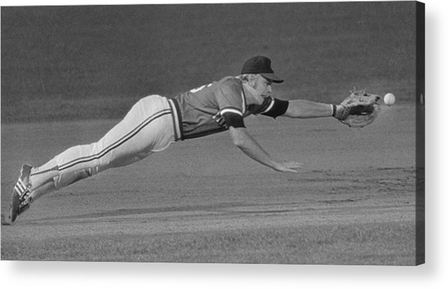 American League Baseball Acrylic Print featuring the photograph Buddy Bell by Ronald C. Modra/sports Imagery