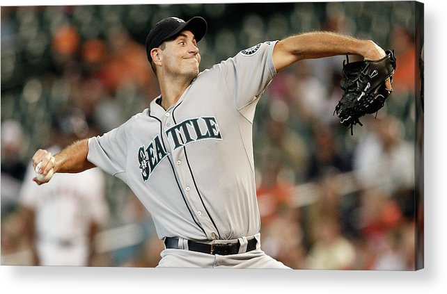 American League Baseball Acrylic Print featuring the photograph Chris Young by Bob Levey
