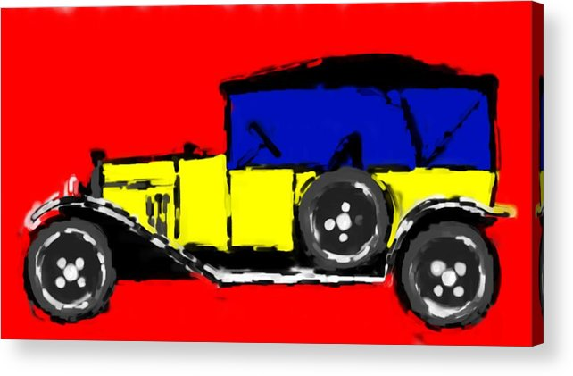 F1 Acrylic Print featuring the mixed media F1 by Asbjorn Lonvig