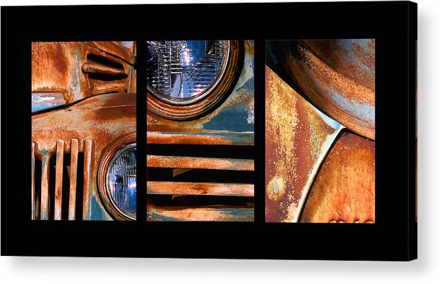 Abstract Acrylic Print featuring the photograph Red Head On by Steve Karol