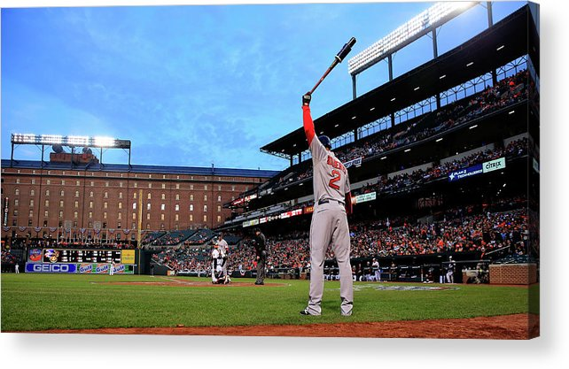 Second Inning Acrylic Print featuring the photograph Xander Bogaerts by Rob Carr
