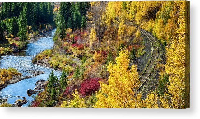 Scenics Acrylic Print featuring the photograph Abandoned Railway by C. Fredrickson Photography