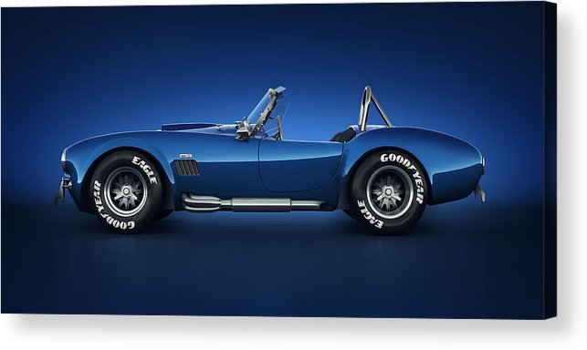 Transportation Acrylic Print featuring the digital art Shelby Cobra 427 - Water Snake by Marc Orphanos