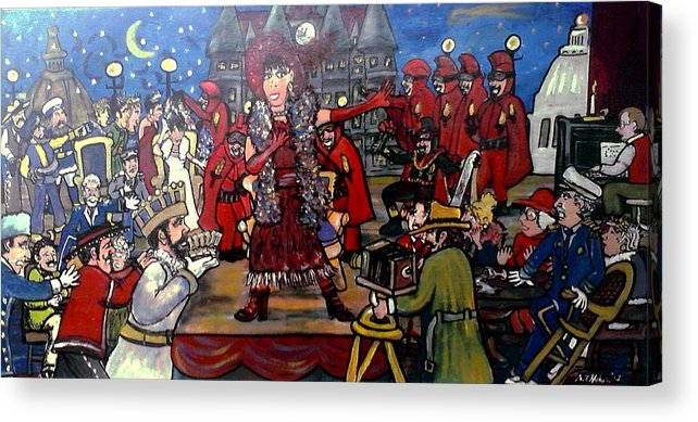 St. Paul Winter Carnival Acrylic Print featuring the painting The Tyranny Of Tradition At Twelve Forty Five by Richard Hubal