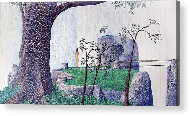 Landscape Acrylic Print featuring the painting The Yearning Tree by A Robert Malcom