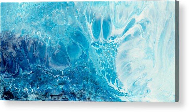 Paul Tokarski Acrylic Print featuring the painting Giant Wave by Paul Tokarski
