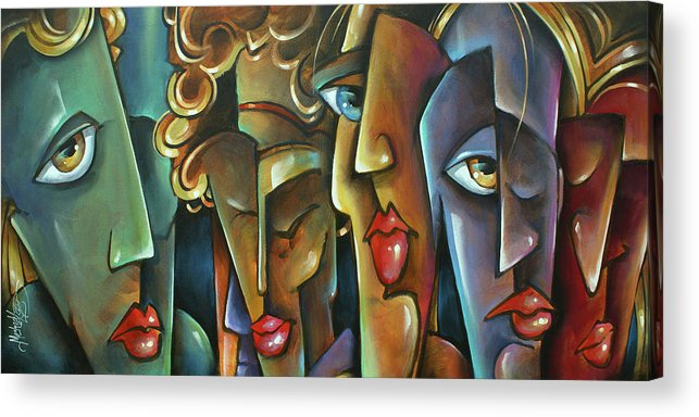 Figurative Acrylic Print featuring the painting ' No Choices ' by Michael Lang
