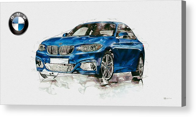Wheels Of Fortune By Serge Averbukh Acrylic Print featuring the photograph 2014 B M W 2 Series Coupe With 3d Badge by Serge Averbukh