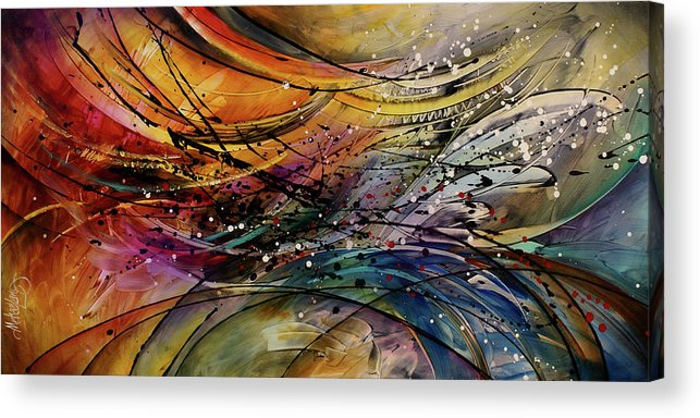 Abstract Art Acrylic Print featuring the painting Abstract by Michael Lang
